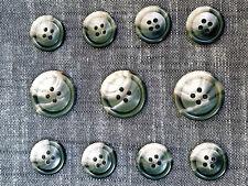 11 Medium Gray  Genuine Horn Buttons Set for Suit  Jackets, Blazer or Sport Coat