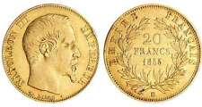 Napoléon III (1852-1870) - 20 francs tête nue 1855 BB (Strasbourg) levrette