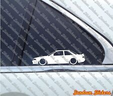2x Lowered car outline stickers - for Toyota Corolla Levin Coupe, AE92 | AE91