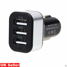 5.1A USB in Car Charger adapter 3 Ports Cigarette Socket for Iphone Samsung UK
