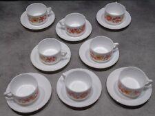 lot de 8 tasse et soucoupe arcopal vintage déco fleur petit modèle