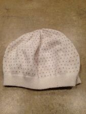 NWOT Tucker & Tate 12-24 Months Beanie Ivory Color With Gold Polka Dots