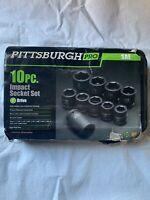 Pittsburgh Pro 10 Pc. Impact Socket Set Reg. Price $229