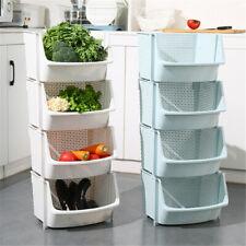 Plastic Stacking Storage Basket Stackers Rack Stand Kitchen Vegetable Fruit Box
