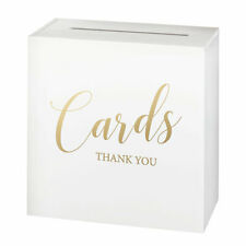 white wooden wedding card box  anniversary bridal shower party or any event