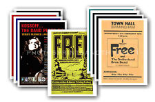 FREE  (PAUL KOSSOFF etc) -  10 promotional posters  collectable postcard set # 1