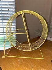 8 Inch Yellow Hamster Exercise Wheel