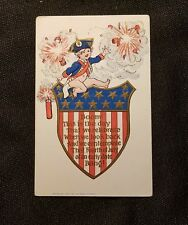 Vintage Postcard 4th Of July Independence Day circa 1907 Embossed