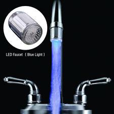 Luminous Glow Light-up LED Shower Tap Faucet Nozzle Head W/Blue Light blue