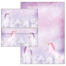 magisches Einhorn Set Motivpapier Briefpapier 20 Blatt A4 +10 Kuverts Pferd Pony