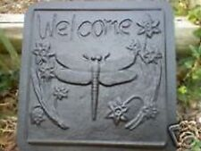 Plaster concrete dragonfly stepping stone mold