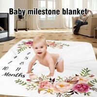 Neugeborenes Baby Meilenstein Decke Fotografie Fleece Baby monatliche Dusche Dec