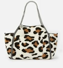 Stella Mccartney Falabella FFF Reversible Leopard Print Large Tote Bag New