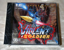 BRAND NEW NEC PC ENGINE Hu card VIOLENT SOLDIER Japan shooter GT DUO  i.g.s RARE