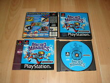 MICRO MANIACS BY CODEMASTERS FOR SONY PS1 UK VERSION USED COMPLETE