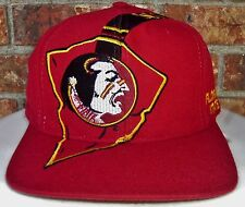"VTG 90's FLORIDA STATE SEMINOLES NCAA THE ""g"" GAME BIG LOGO SNAPBACK HAT"