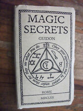 Magic Secrets Guidon Society Rome 1670 (Rare, Only 180 Copies In The World)