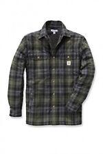 Carhartt - Hubbard Camicia con Fodera in Finta pelliccia Muschio XL (d6u)