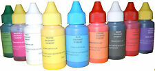 Eopxy poliester polyurethane resin color pigments colorants set of  9 colors