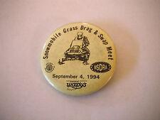 Vintage 1994 M.S.D.R.A Snowmobile Grass Drag Racing Pinback Button