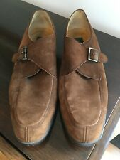 Barcelino Brown Suede Monkstrap men's dress shoes Made in Spain size 11/12