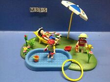 (M335) playmobil maman et les enfants dans la pataugeoire