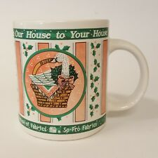 House of Fabrics From Our House to Your House Coffee Mug Duck in Basket B73