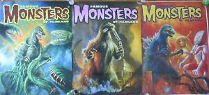 (3) Godzilla Famous Monsters of Film-land 18 x 24 Rolled Posters SIGNED