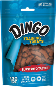 Dingo Soft And Chewy Real Beef Chicken Dog Training Treats 120 Count Pieces