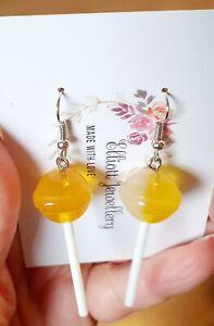 Lollipop earrings novelty sweet candy friend gift novelty jewellery chupa chups
