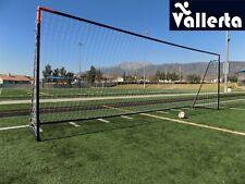 Vallerta® 24x8 Ft. Regulation Size Soccer Goal w/Weatherproof Net(Blk/Org)(1Net)