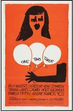 ONE, TWO, THREE movie / film poster - linen backed - Saul Bass