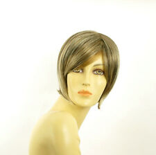 short wig for women light blond light copper wick and chocolat : CECILIA 15613h4