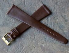 Highly tapered-shape Short Length vintage 18mm watch Calf band 1960/70s Swiss