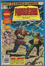 Marvel Classics Comics 20 Frankenstein High Grade Mary Shelley Gene Colan Cover