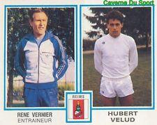 435 RENE VERNIER - HUBERT VELUD STADE DE REIMS STICKER FOOTBALL 1980 PANINI