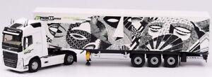 ELI116408 - Camion 4x2 VOLVO FH 4  Globetrotter avec semi bachée 3 essieux aux c