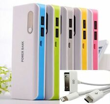 2 usb POWER BANK carica BATTERIA ESTERNA 30000mAh UNIVERSALE LED  portatile