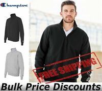Champion Mens Double Dry Eco Quarter-Zip Pullover Sweatshirt S400 up to 3XL