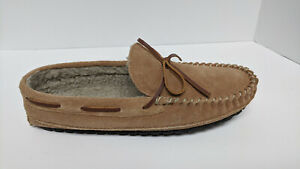 Minnetonka Casey Moccasin Slippers, Cinnamon, Men's 11 M