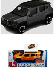 Modellauto Bburago Jeep Renegade orange oder grau metallic - 1:43 - NEU in OVP