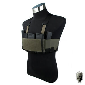 TMC Tactical RD Chest Rig Lightweight w/ 5.56 Mag Pouch Airsoft Ready Rig Gear