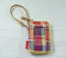Unionbay Yellow Patchwork Cell Phone Holder Zipper Wallet Wristlet