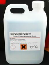 5000ml 5 Litres Benzyl Benzoate 99.9 British Pharmaceutical Grade