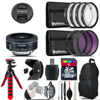 Canon EF-S 24mm f/2.8 STM Lens + Macro Filter Kit & More - 32GB Accessory Kit