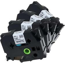 TZe-251 TZ251 P-Touch Label Tape Compatible for Brother Black on White 24mm 4pk