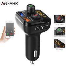 ANFAHR FM Transmitter Bluetooth Freisprechanlage Auto USB Stick SD MP3 Player