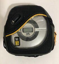 Sony Walkman CD Player D-EJ109 Silver Portable Mega Bass w/ Case Logic