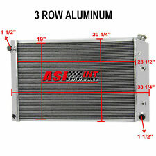 3 Rows Aluminum Radiator For 1973-1987 Chevy C/K Series Pickup Truck Suburban