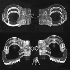 Neck-Wrist-Ankle Restraints Slave Cangue PP Crystal Handcuffs Shackles
